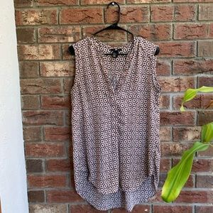 Sleeveless Peach Patterned Tanktop/tunic